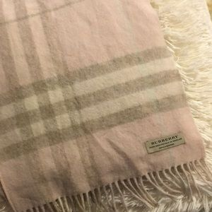 Pink checked Burberry scarf